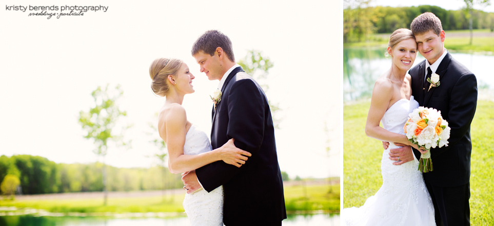 Bride and Groom - Northern Michigan Wedding