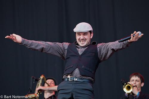 Pinkpop 2012 mashup foto - Babylon Circus op Pinkpop 2012