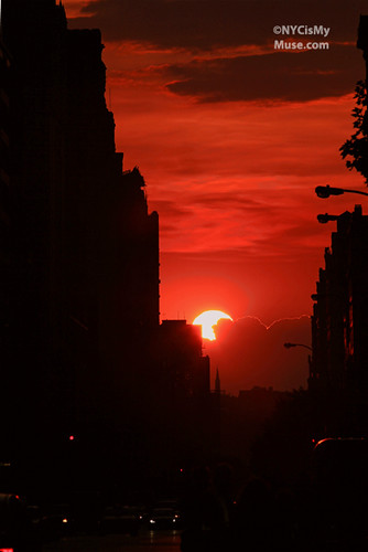 Manhattanhenge: Just as it was about to climax clouds swallowed the sun