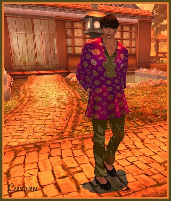22769 - Violet Kurta (mesh)