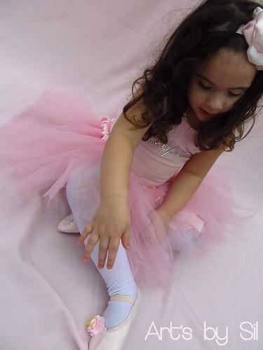 bailarina, saia tutu, sapatilha balé, collant by Art's by SiL
