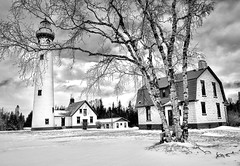 """New Presque Isle Lighthouse"" Presque Isle, Michigan by Michigan Nut"