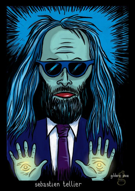 Pop Icons : Sébastien Tellier - Illustration : Gilderic