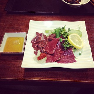 Raw horse liver/heart