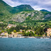 Tremezzo village and Church on Lake Como (Lago di Como)  Italy