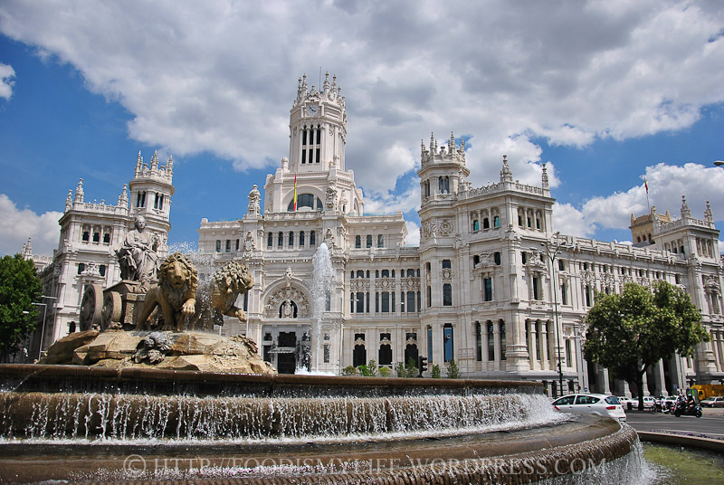 The Cibeles Fountain with Communication Palace