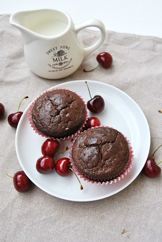 Chocolate Orange Muffins (with cherries)