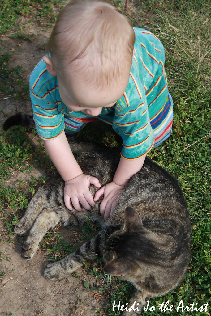 Baby Boy & Cat