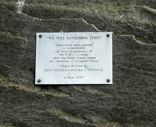 Normandy anniversary plaque
