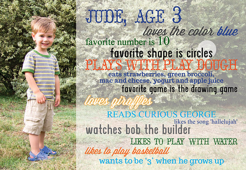 Jude is 3