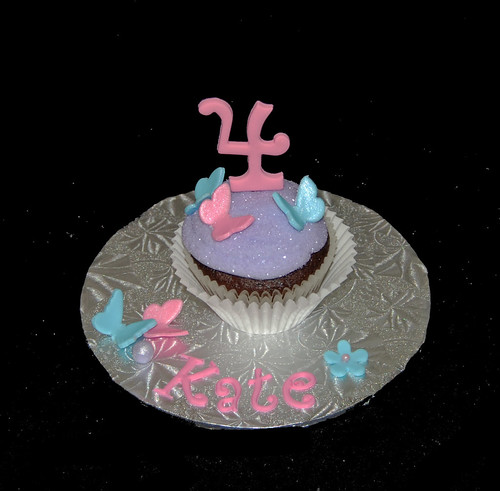 personalized 4th birthday jumbo cupcake