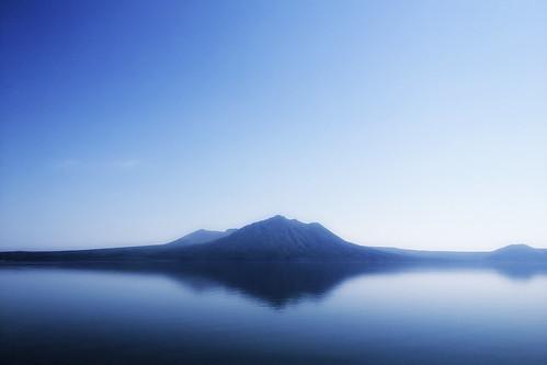 無料写真素材, 自然風景, 山, 河川・湖, 風景  日本, 青色・ブルー