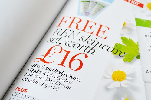 Red Mag August issue REN skincare set Free