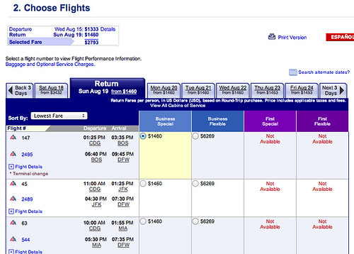 DFW to Paris Sale Price
