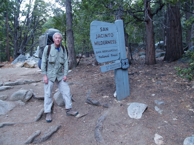 San Jacinto Wilderness Sign in Humber Park near the Devils Slide Trail trailhead