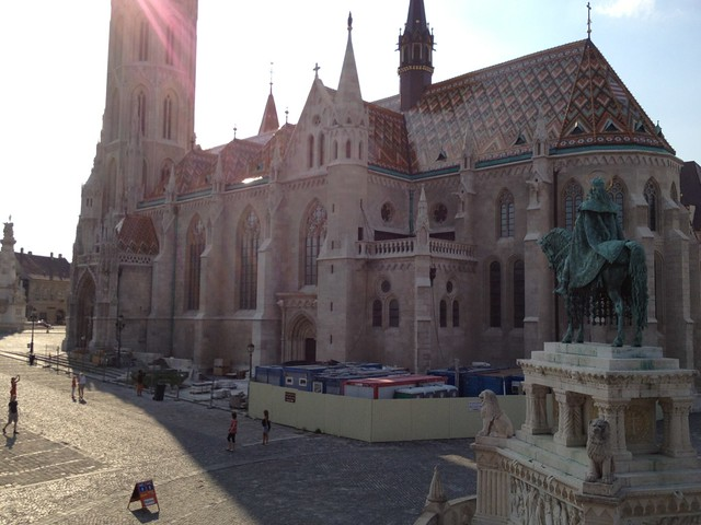 Back view of Matyas Church, Budapest