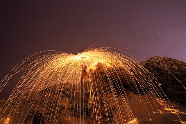 Rueda de fuego veraniega - Summer fireball