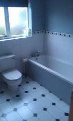 floor, daylighting, toilet, room, property, jacuzzi, bathtub, plumbing fixture, tile, bidet, bathroom, flooring,