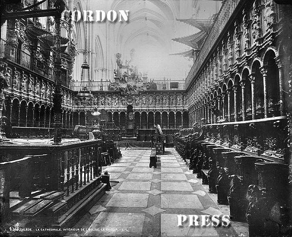 Sillería de la Catedral de Toledo hacia 1875-80. © Léon et Lévy / Cordon Press - Roger-Viollet