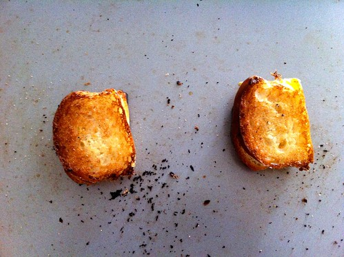 Toasted Grilled Cheese Croutons