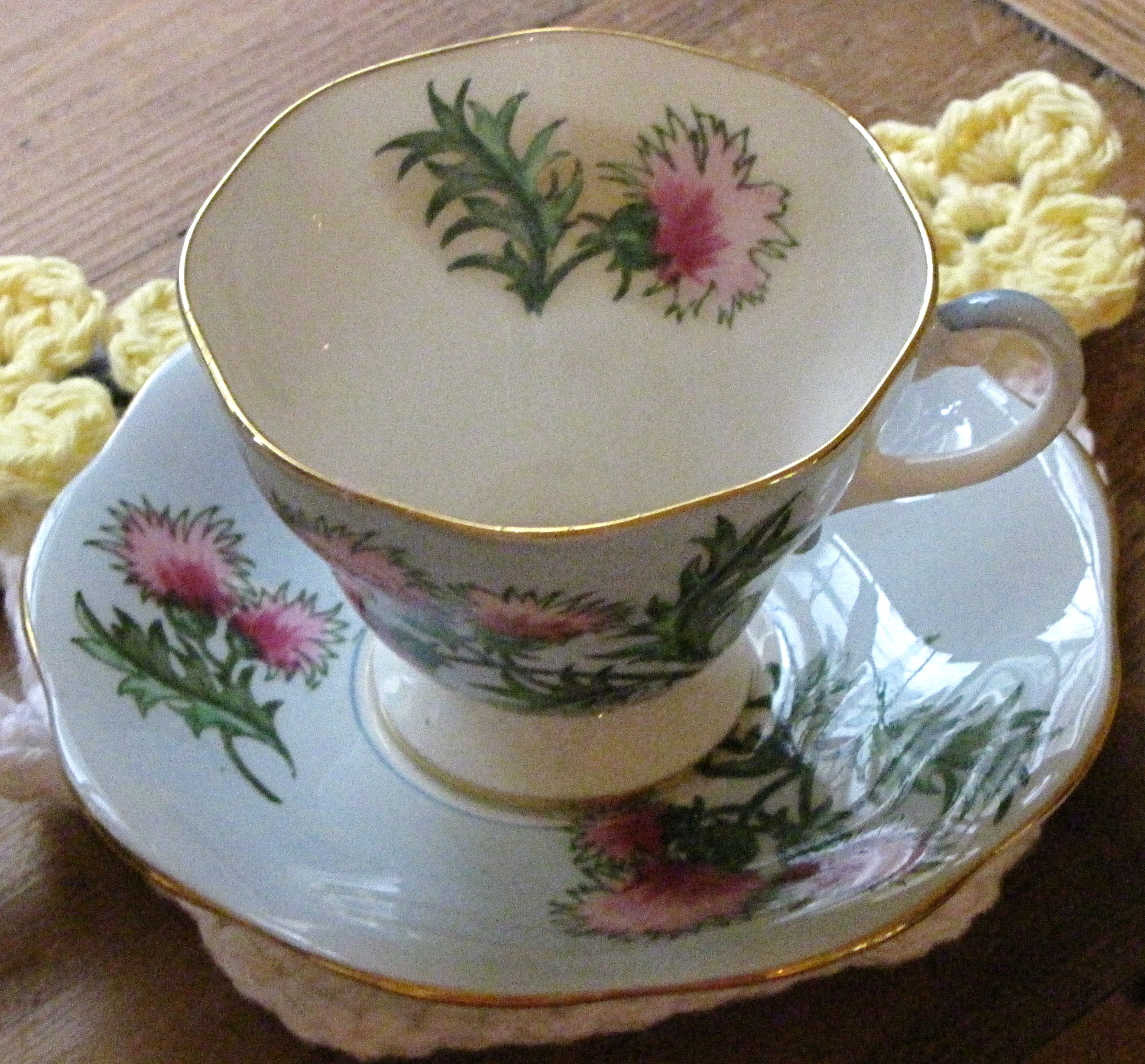 Glencarry Thistle Teacup