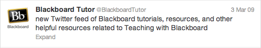 first Tweet from @BlackboardTutor