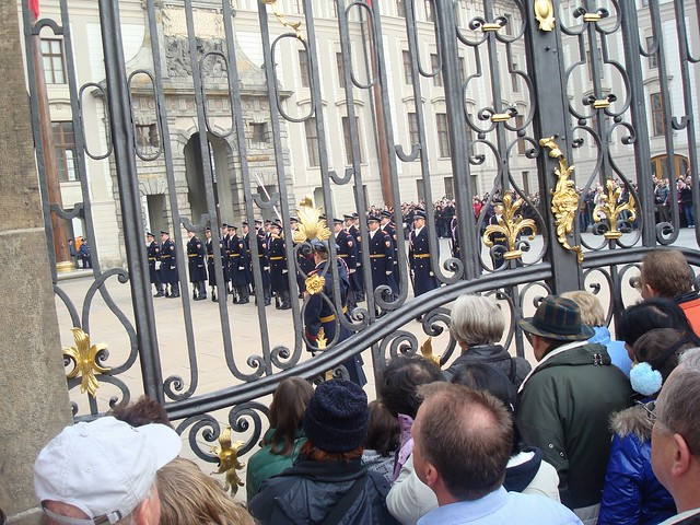 The changing of the guards at Prague Castle
