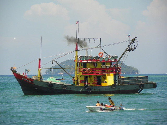 Fishing boat in kota kinabalu malaysia all of my travel for How to not get seasick on a fishing boat