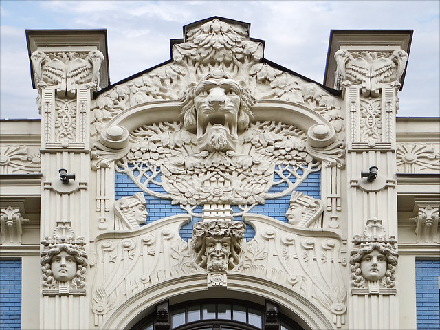 Immeuble art nouveau riga flickr photo sharing Art nouveau arquitectura