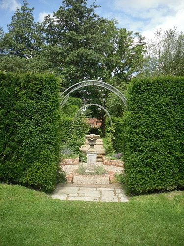 Coughton Court, view in garden