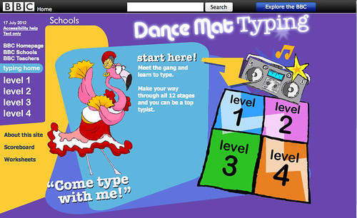 Dance Mat Typing Website