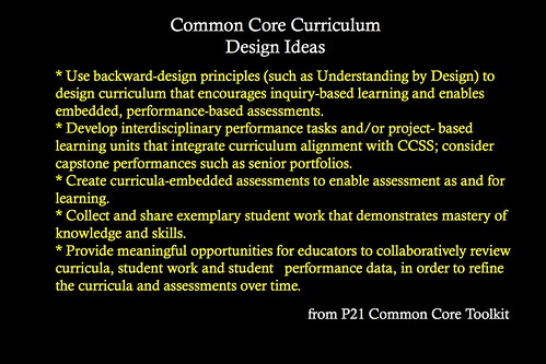 Common Core P21 Toolkit Ideas
