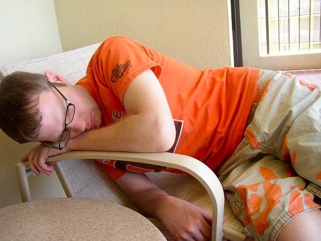 Frank Relaxing on Lanai