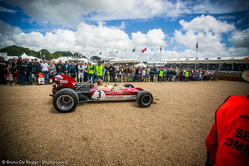 Heritage Lotus F1 - Golden Leaf on the 2012 Goodwood Festival of Speed.