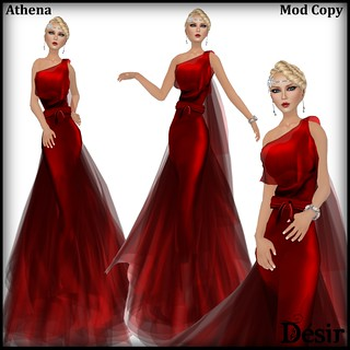 DESIR Athena dress Red poster - Hope for Emilia - Exclusive item !