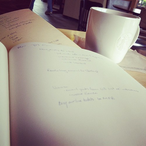 This is a two-notebook day. #brewingaqesomesauce