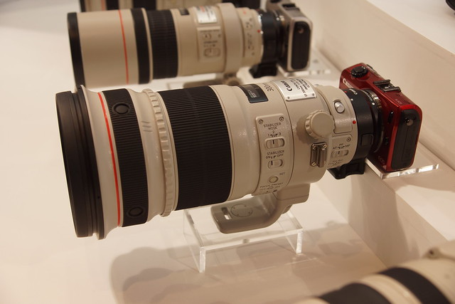 EOS MとEF300mm F2.8L IS USM