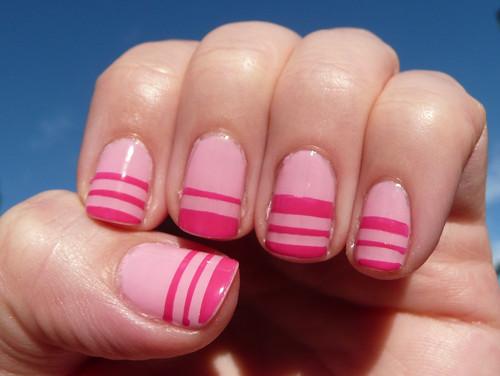pink stripe mani1