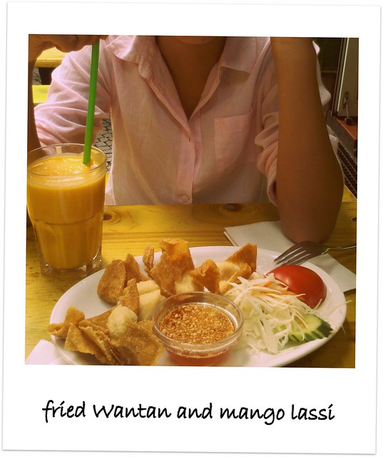 Mango Lassi & Fried Wantan