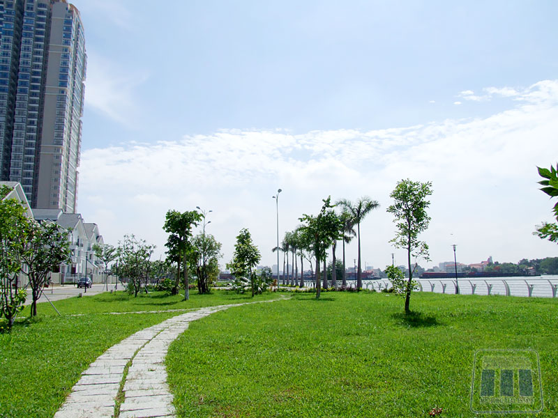 Saigon river park near saigon pearl apartment for rent near thu thiem bridge