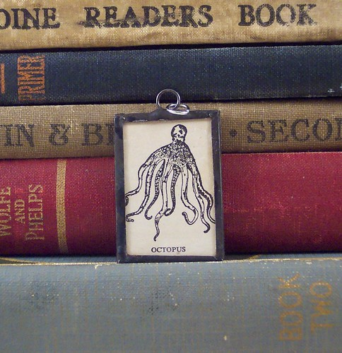 Octopus Dictionary Illustration Pendant
