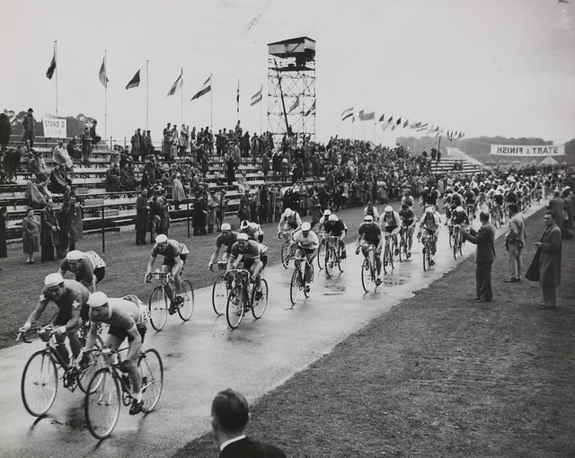 The Olympic Cycling Road Race at Windsor, London, 1948.