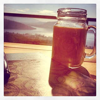 Starting off my day with prayer, a beautiful view, and coffee in a mason jar!