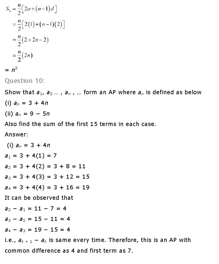 NCERT Solutions For Class 10 Maths Chapter 5 Arithmetic Progressions AP PDF Download freehomedelivery.net