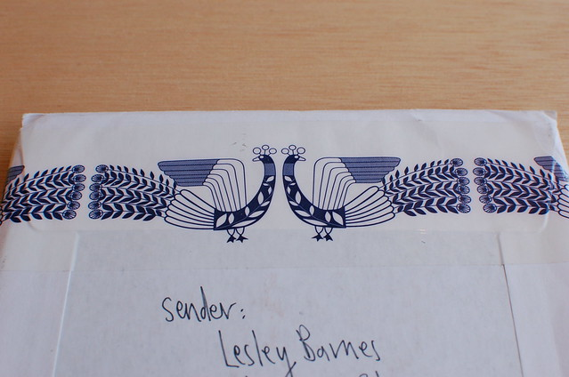 Snail mail and art by Lesley Barnes