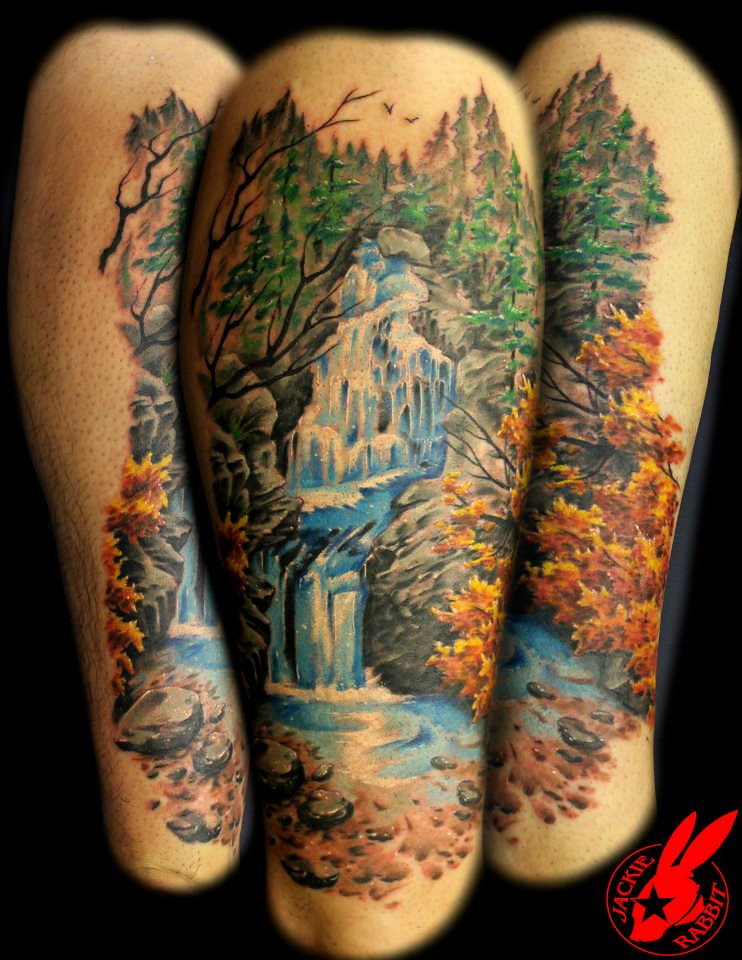 Waterfall tattoo by jackie rabbit a photo on flickriver for Tattoo roanoke va