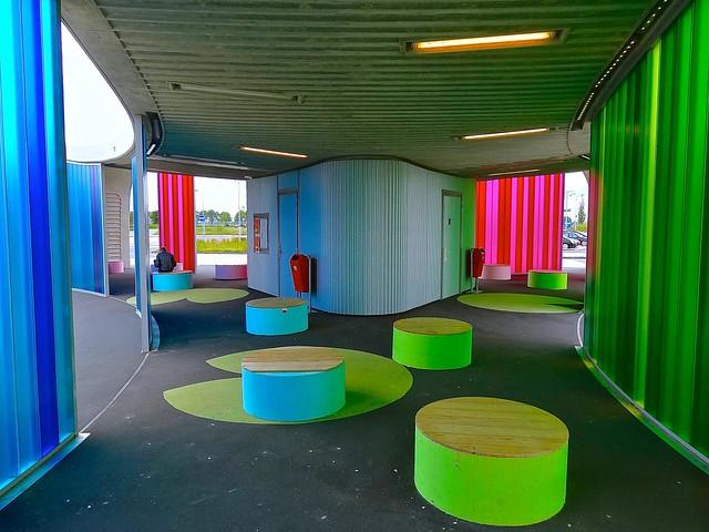 Transferium, busstop, Hoogkerk, Groningen, The Netherlands