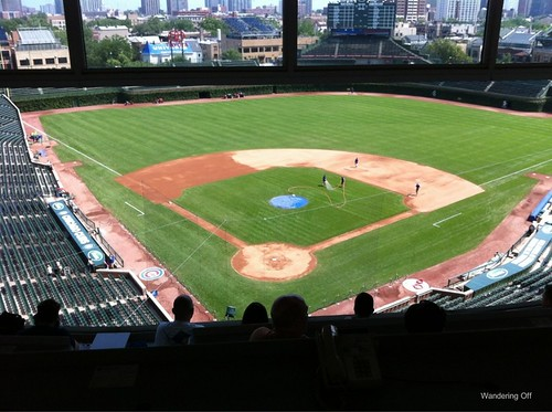 View from press box, Wrigley Field Tour