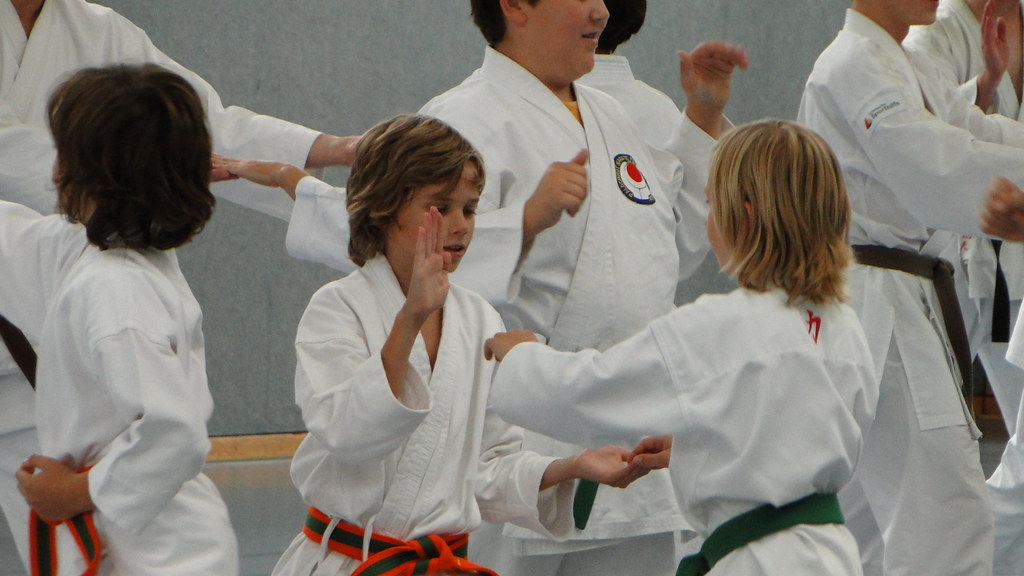 Karate-Training in Poing