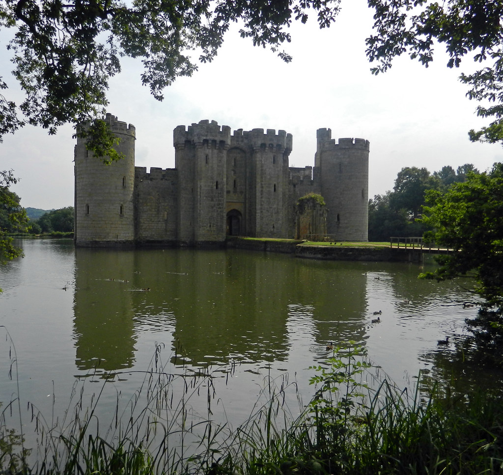 Bodiam Castle, Near Robertsbridge, East Sussex, England, UK